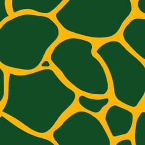 Giraffe Spots Coordinate Large | Deep Green + Deep Yellow