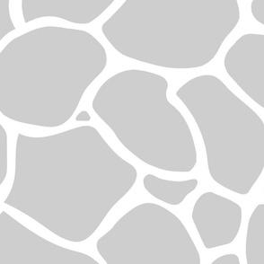 Giraffe Spots Coordinate Large | Lt Gray + White