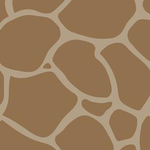 Giraffe Spots Coordinate Large | Warm Brown + Khaki