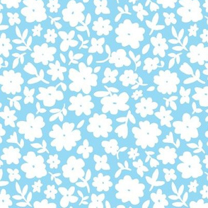 Baby Blue and White Bitsy Floral by Angel Gerardo