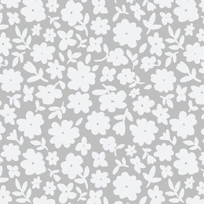 Gray and Grey Bitsy Floral by Angel Gerardo