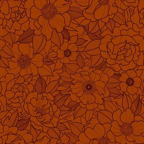 flower fields orange