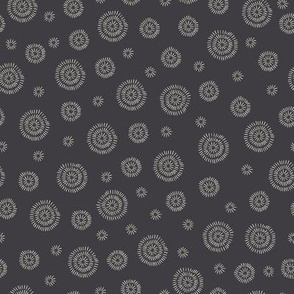 Circles in charcoal black and creamy white