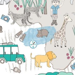 We're on Safari, wall paper, XL