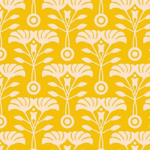 Art Nouveau Yellow Floral from UnBlink Studio by Jackie Tahara-SMALL Scale
