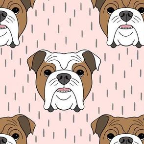 English Bulldogs - pink