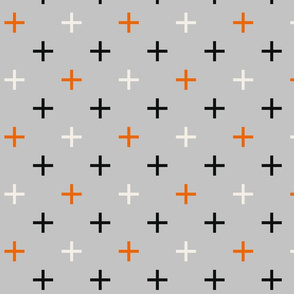 Crosses Cross Check, grey gray and orange