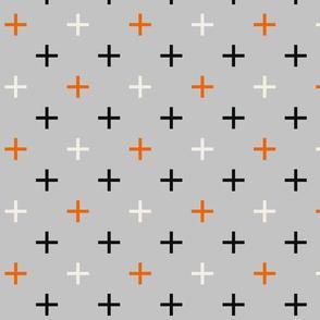 Crosses Cross Check, grey gray and orange