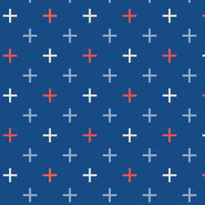 Crosses Cross Check, classic blues and coral red