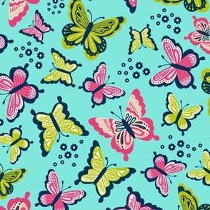 Happy Spring Butterflies V2 - Blossom
