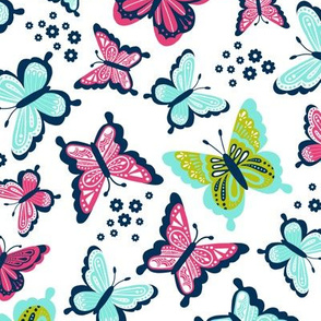 Happy Spring Butterflies V2 - Bubblegum