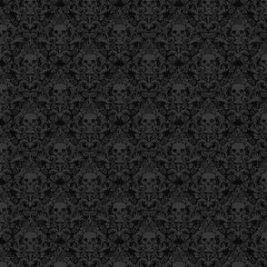 Skull Damask Dark Style