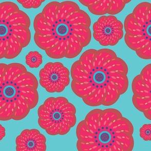 Pop Art Pink Flower