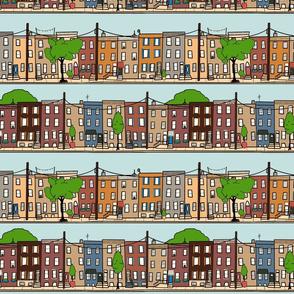 Philadelphia row homes
