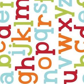 little one :: alphabet rotated ABC's