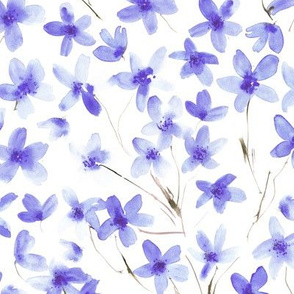 Amethyst dainty cherry blossom - watercolor ethereal flowers for modern home decor, bedding, nursery