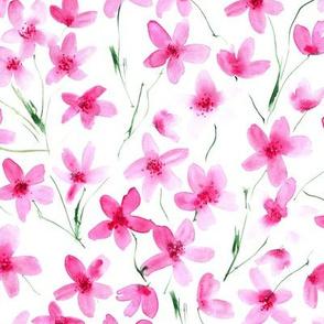 Dainty cherry blossom ★ watercolor sakura florals for modern home decor, bedding, nursery