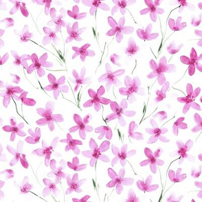 dainty cherry blossom - smaller scale - watercolor spring florals p274