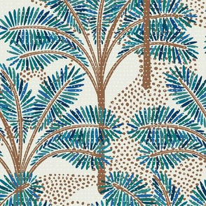 Turquoise Palm Trees / Big Scale