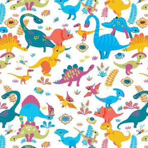 Stacks of dinosaurs - main design