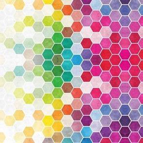 Rainbow Hexagons Small Scale