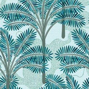 Tropical Palms After Rain / Big Scale