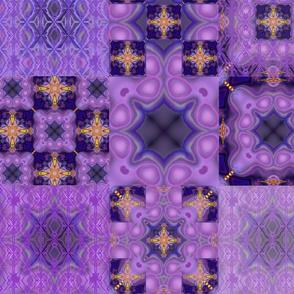 Purple Patchwork nyans
