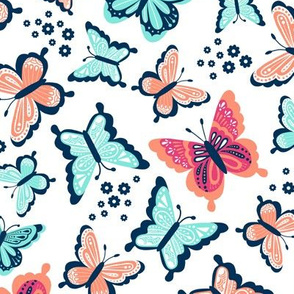 Happy Spring Butterflies V2 - Ocean Breeze