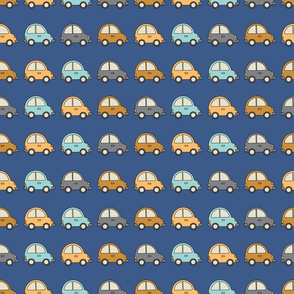 Colorful cars - dark blue background