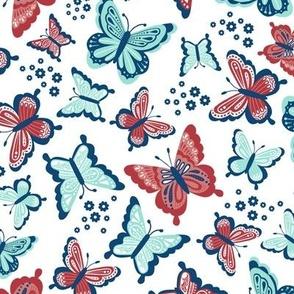 Happy Spring Butterflies V2 - Scarlet Teal