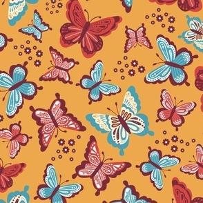 Happy Spring Butterflies V2 - Sunrise