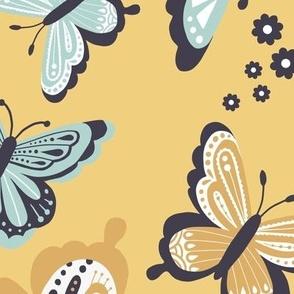Happy Spring Butterflies V2 - Sunset