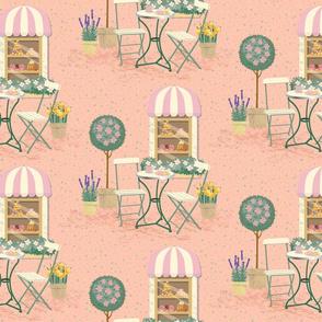 Pastel Cafe Paris-Large