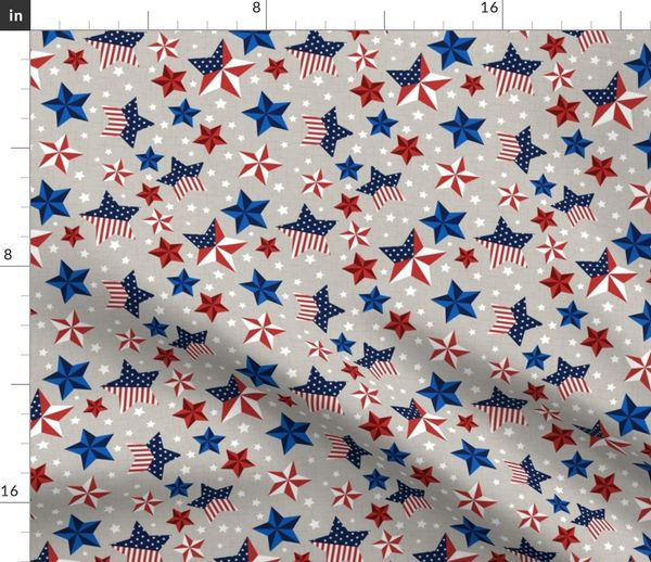 red white and blue stars with taupe spoonflower fabric by the yard red white and blue stars with taupe background