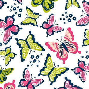 Happy Spring Butterflies V2 - Watermelon