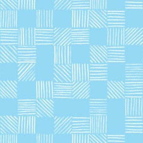 Baby Blue Grid Lines by Angel Gerardo