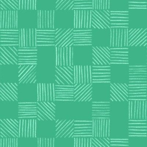 Mint and Emerald Green Grid Lines by Angel Gerardo