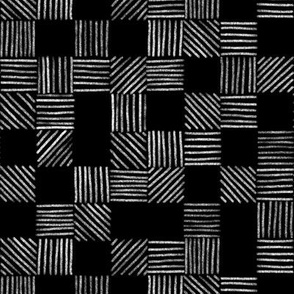 Black and White Grid Lines by Angel Gerardo