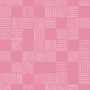 Pink Rose Quartz Grid Lines by Angel Gerardo