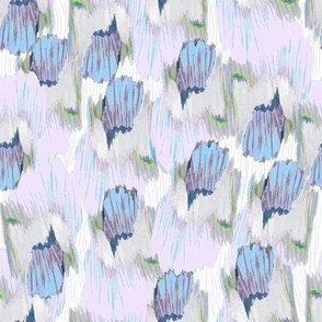 pale blue and lilac
