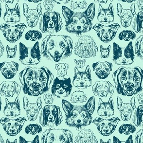 dogs - small scale mint