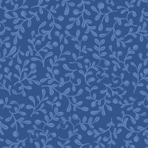 Blue on Blue Floral