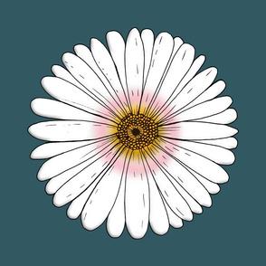 one Daisy - petrolcolor  by Marla von den Sternen