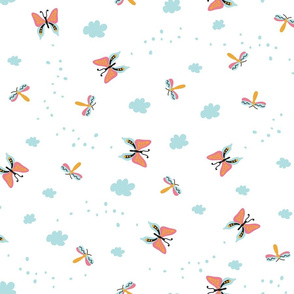 Pattern with butterflies