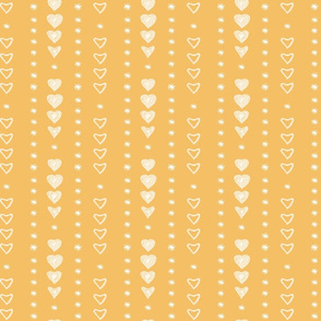 Yellow pattern with hearts