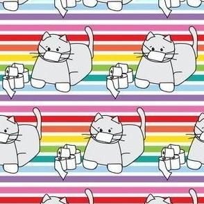 Corona Cat Alt Rainbow