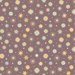 Pattern with suns
