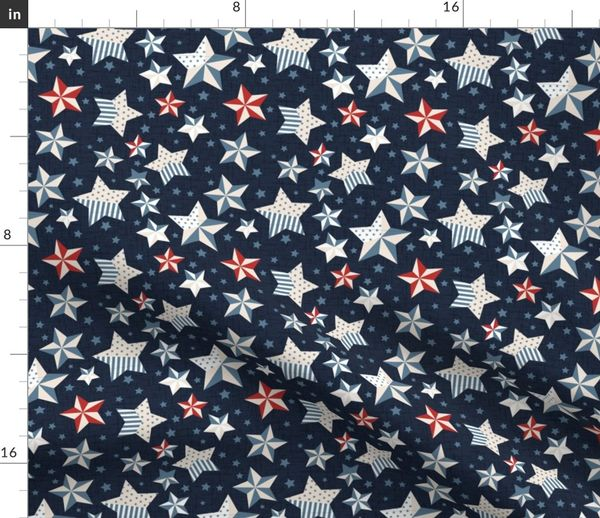 red white and blue stars with navy blue spoonflower spoonflower
