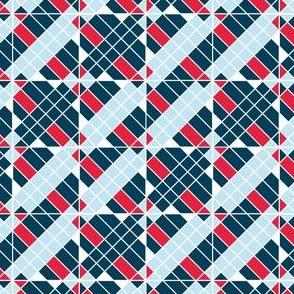 Patriotic Quilt Blocks, Red, White, Blue