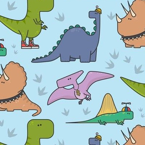 dinosaur with the style